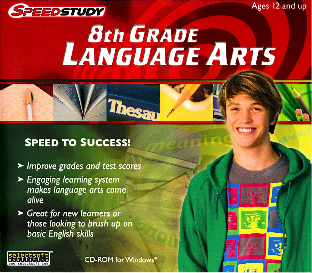Speedstudy middle school language arts three pack jewel cases