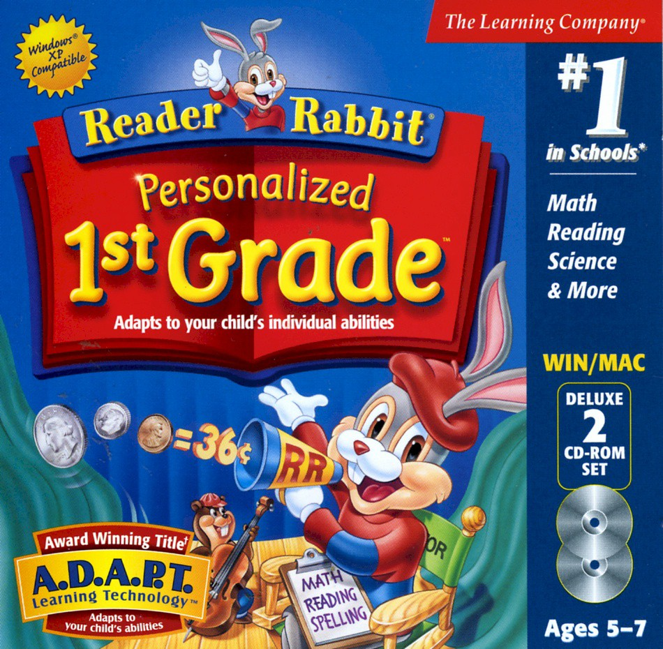 Reader rabbits grade school preschool 4th grade the complete at home learning system 7 cds